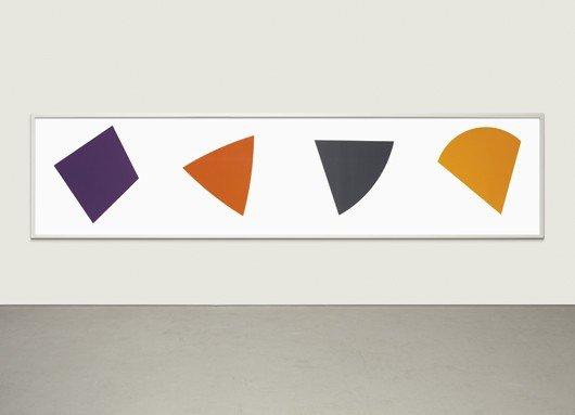 20: ELLSWORTH KELLY, Purple/Red/Grey/Orange, 1988