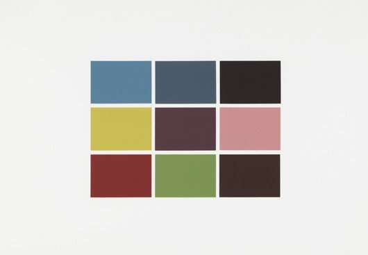 23: GERHARD RICHTER, 9 von 180 Farben (9 of 180 colors)