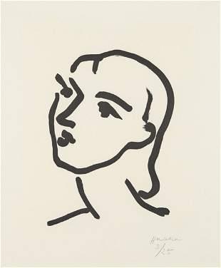 43: HENRI MATISSE, Nadia aux cheveux lisses, 1948