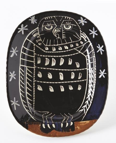 53: PABLO PICASSO, Bright Owl, 1955