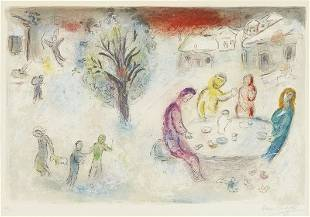 75: MARC CHAGALL, Daphnis et Chloé: The Meal at the Dry