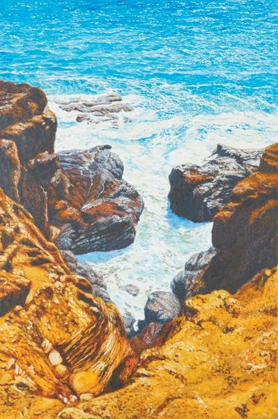 1: Fabio Aguzzi [Ocean Breaking on Rocks, St. Barth