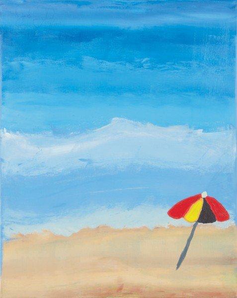 2: Artist Unknown, [Umbrella on Beach]