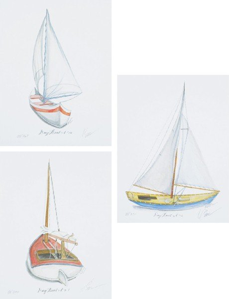 4: Kolene Spicher, [Sailboat Studies] (3 works)