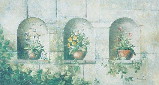 14: Fabrice de Villeneuve, [Three Potted Flowers (purpl