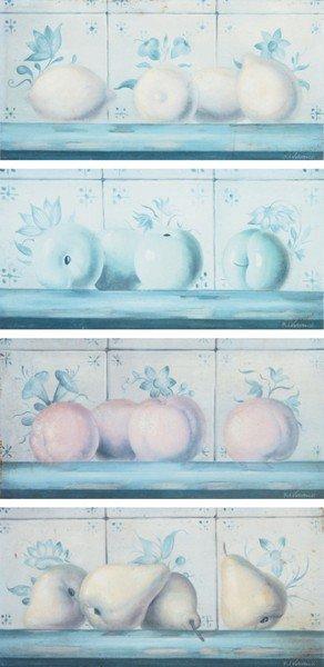 18: Fabrice de Villeneuve, [Tuiles des Fruits (pommes,