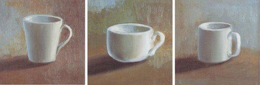 19: Artist Unknown, [White Mugs] (3 works)