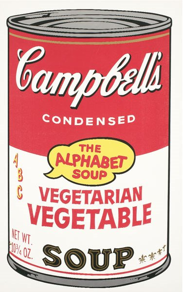 747:  ANDY  WARHOL  (1928-1987)  CAMPBELL'S ALPHABET SO