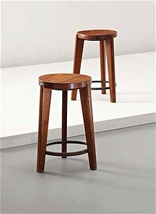 PIERRE JEANNERET, Pair of stools, from Chandigarh, I