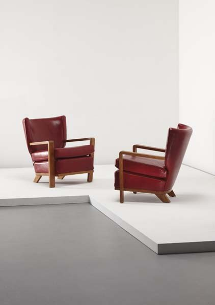 "12: JEAN ROYÈRE, Pair of ""Ecusson"" armchairs, 1953"