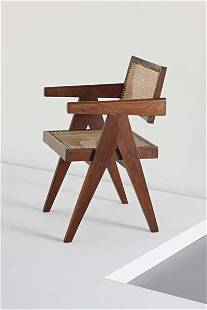 """PIERRE JEANNERET, """"Conférence"""" armchair, from Chand"""