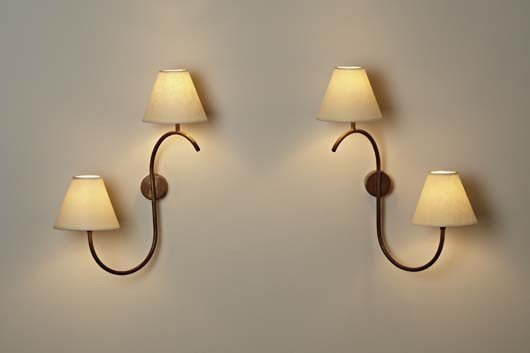 20: JEAN ROYÈRE, Pair of sconces, ca. 1950