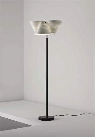 71: ALVAR AALTO, Floor lamp, model no. A 809, 1950s