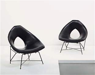116: AUGUSTO BOZZI, Pair of lounge chairs, ca. 1955