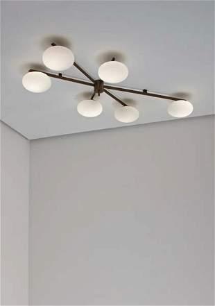 119: ANGELO LELLI, Large ceiling light, ca. 1958