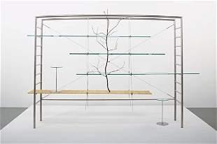 """147: ANDREA BRANZI, """"Pierced"""" bookcase, 2006"""