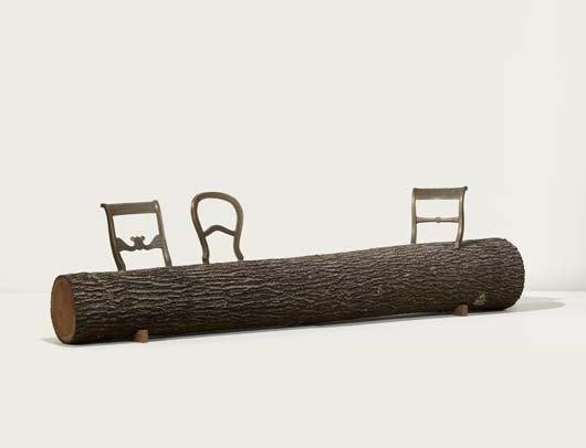 "6: JURGEN BEY, ""Tree Trunk Bench"", designed 1999, ca. 2"