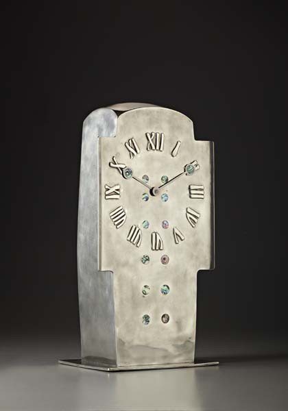 "10: ARCHIBALD KNOX, ""Tudric"" mantel clock, model no. 09"
