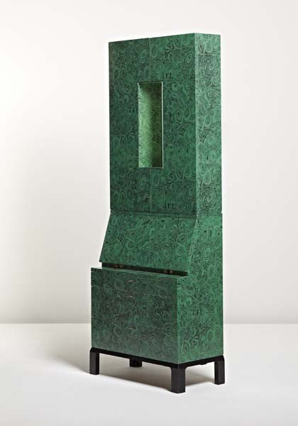 "11: PIERO FORNASETTI, Rare illuminated ""Malachite"" trum"