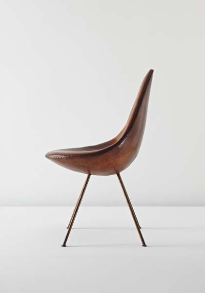 """18: ARNE JACOBSEN, Rare and important """"Drop"""" chair, ca."""