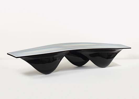 "19: ZAHA HADID, Black ""Aqua"" table, ca. 2006"