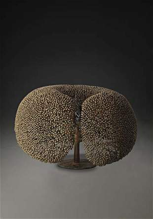 "25: HARRY BERTOIA, Large ""Bush"" sculpture with integrat"