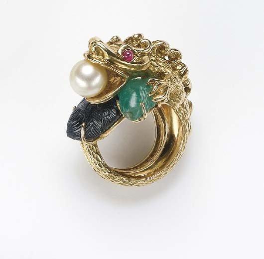 7: MAUBOUSSIN, A Gem-Set and Gold Ring MAUBOUSSIN