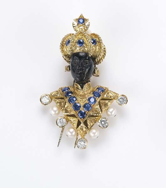 10: Nardi, A Blackamoor Brooch with Diamond, Pearls and