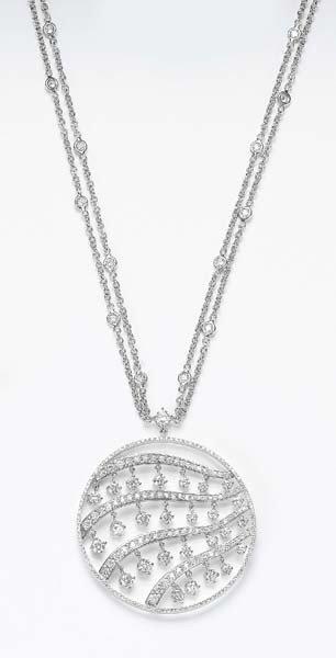 13: A Diamond Pendant Necklace