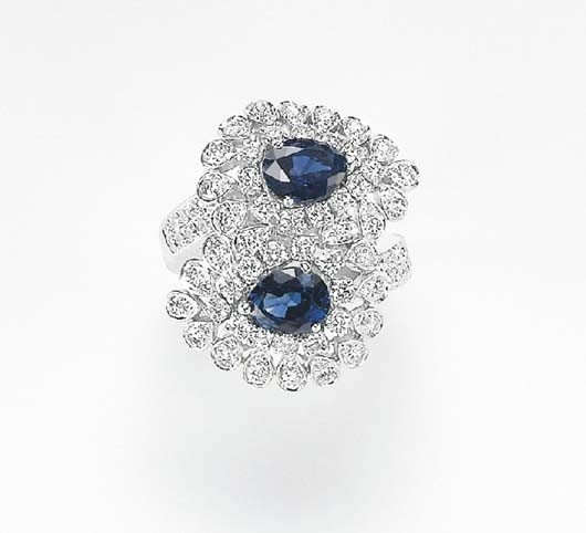 18: A Sapphire and Diamond Ring