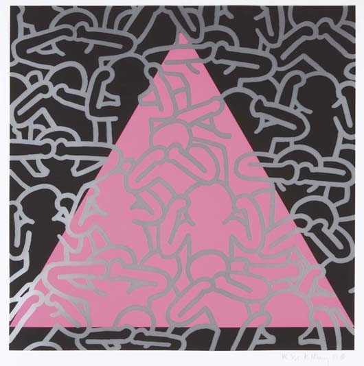 27: KEITH HARING, Silence Equals Death, 1989