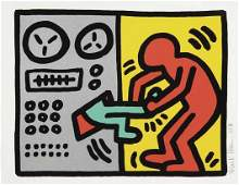 65 KEITH HARING Pop Shop III Untitled plate one 1