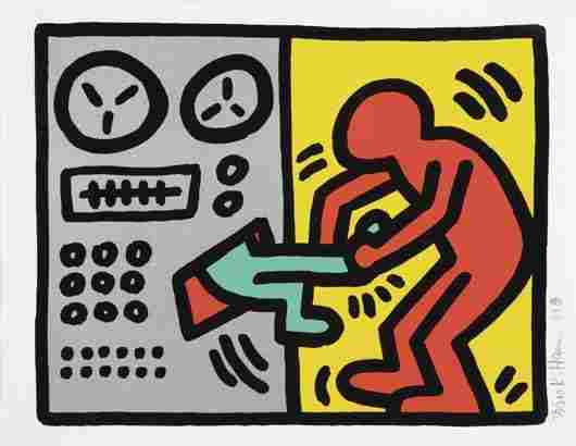 65: KEITH HARING, Pop Shop III: Untitled (plate one), 1
