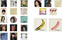 131: ANDY WARHOL, Private rare collection of 52 album a