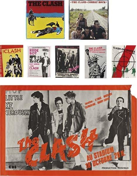 190: THE CLASH, Eight posters: (i) White Riot Tour, 197