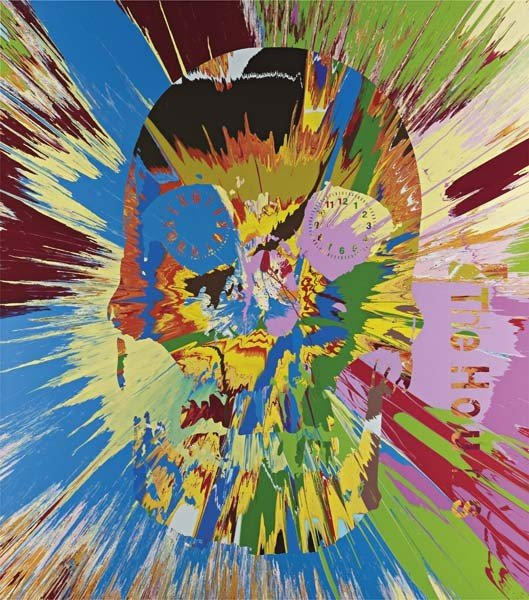 9: DAMIEN HIRST, Beautiful Hours Spin Painting VI, 2008