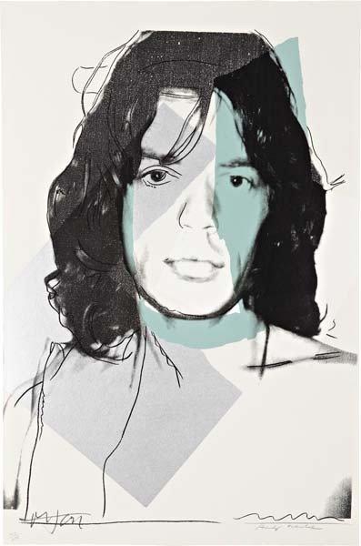 14: ANDY WARHOL, Mick Jagger, 1975