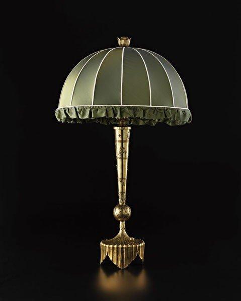 5: DAGOBERT PECHE, Very rare large table lamp, ca. 1922