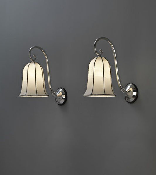 10: JOSEF HOFFMANN, Important pair of wall lights, from