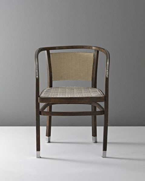13: OTTO WAGNER, Rare armchair, for the dispatch bureau