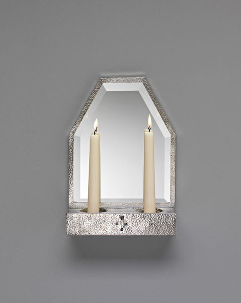 16: JOSEF HOFFMANN, Very rare and early mirrored sconce