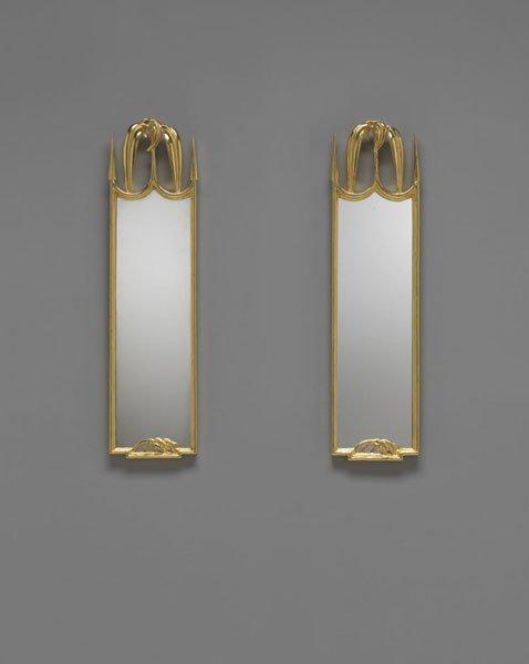 22: JOSEF HOFFMANN, Exceptional pair of mirrors, ca. 19