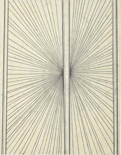 15: Mark Grotjahn, Untitled (Cream Butterfly), 2004
