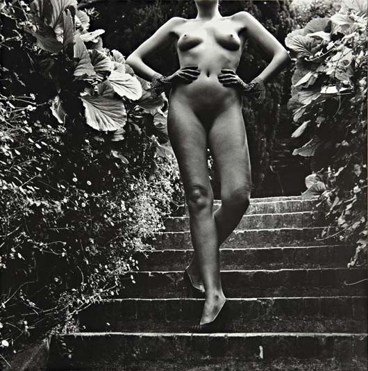 13: HELMUT NEWTON Nude Descending Staircase, Nice, 1981