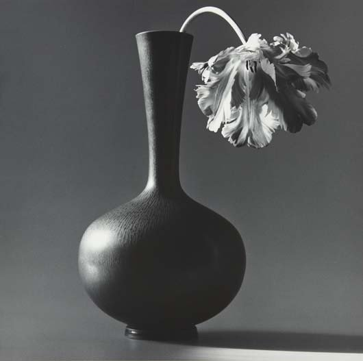 16: ROBERT MAPPLETHORPE Parrot Tulip in Black Vase, 198
