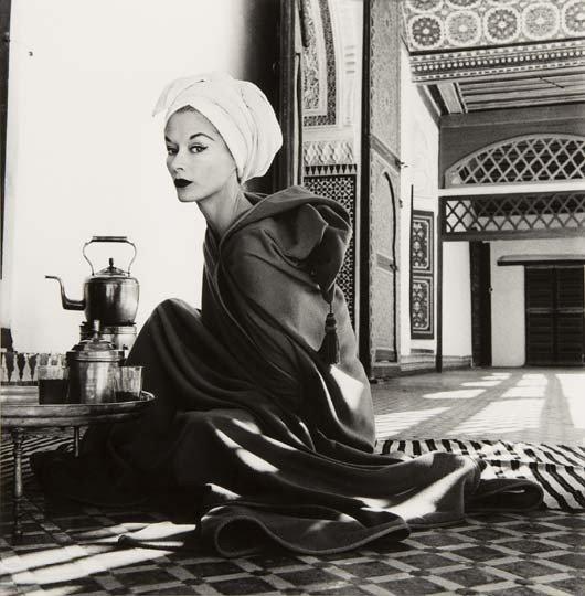 48: IRVING PENN Woman in Palace (Lisa Fonssagrives-Penn