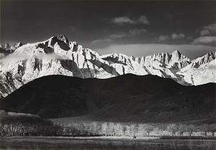 58: ANSEL ADAMS Winter Sunrise, the Sierra Nevada from