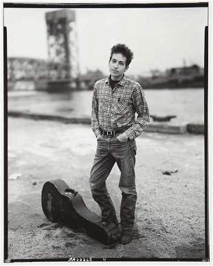 93: RICHARD AVEDON Bob Dylan, Singer, 132nd Street and