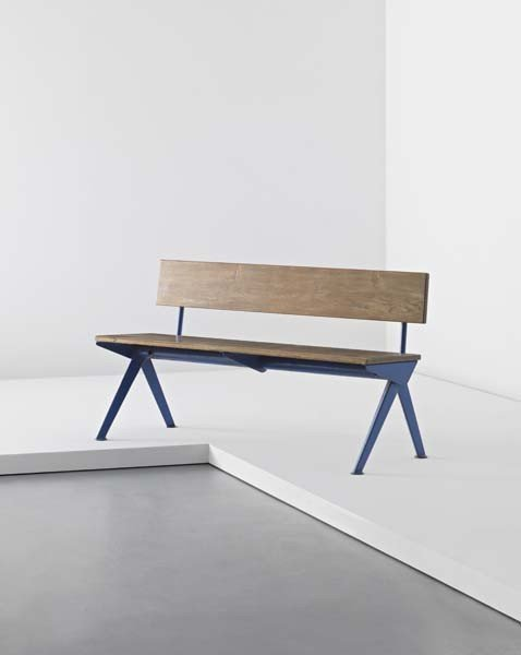1: JEAN PROUVÉ, 'Marcoule' bench, from the CEA building