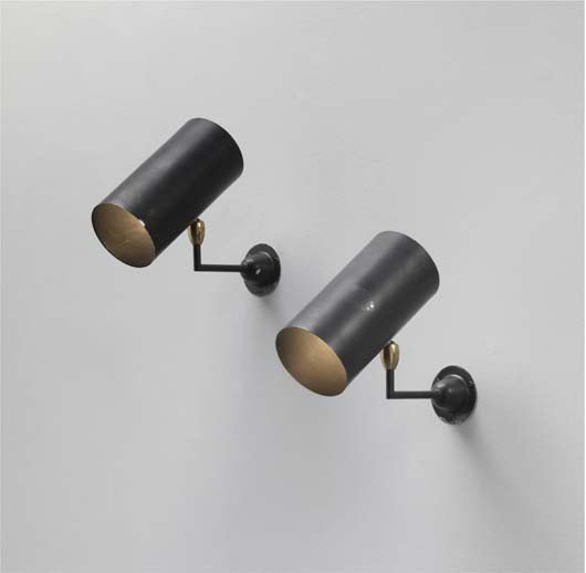 11: SERGE MOUILLE, Pair of 'Tuyaux' wall lights,, c. 19